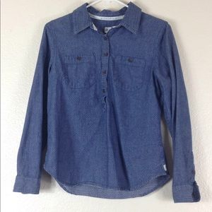 Toms Button Down Long Sleeve Colar Shirt Size S